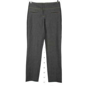 Cache Sheen Dark Wash Straight Leg Stretch Jeans